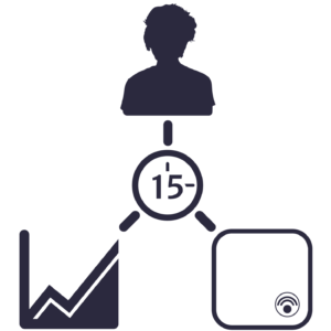 Graphic icon depicting ease of use