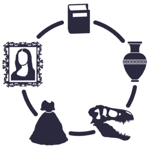 Graphic icon representing different collections